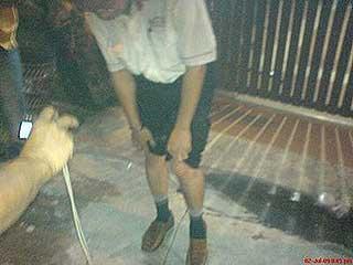 umno youth violent attack at dap event in melaka market 030709 01