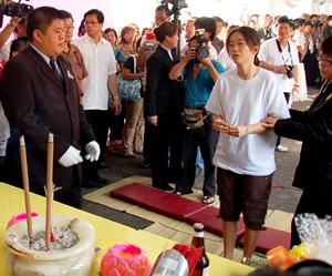 teo beng hock funeral 200709 fiancee