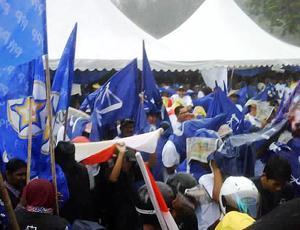 bagan pinang by-election nomination 031009 bn supporters