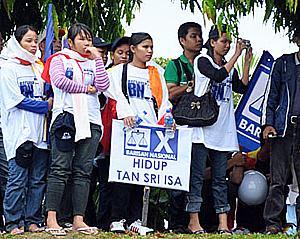 bagan pinang by-election nomination 031009 hidup isa banner
