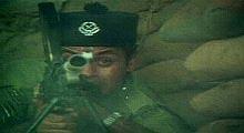 bukit kepong the movie 060905 jins shamsuddin with bren gun