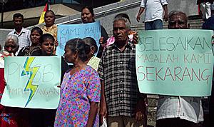 taman permata flats dengkil 151209 protest