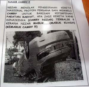 the overturn car of nizar cartoon