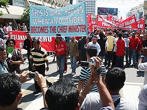 sedaq protest against penang government 050210 marching