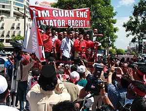 sedaq protest against penang government 050210 ibrahim ali speech 03