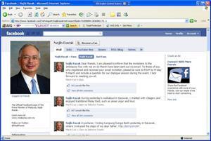 najib facebook account