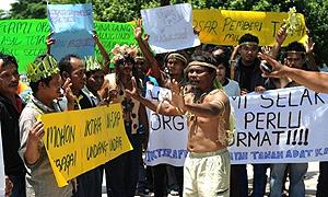 orang asli protest in putrajaya 170310