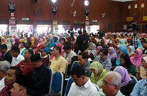 gathering at sekolah menengah sains hulu selangor 020410