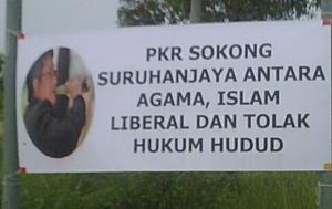 hulu selangor banner on zaid alcoholic