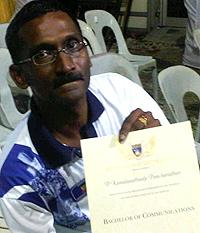 hulu selangor by-election 210410 kamalanathan with degree certification