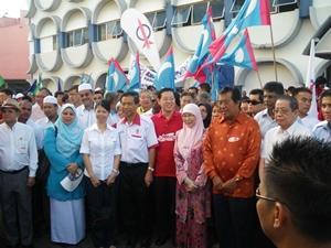 sibu nomination day 080510 pakatan leaders