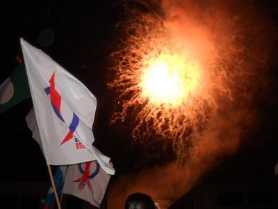 dap sibu finale fireworks