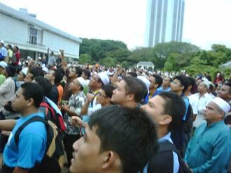 GMJ gerakan mansuhkan judi masjid negara rally sport betting rally crowd