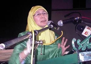 tenang by election pas announce candidate 160111 wan azizah