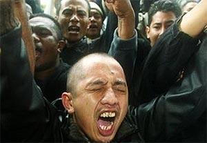world wide islam muslim protest muhammad cartoon indonesia