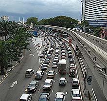 kuala lumpur traffic jam 240206