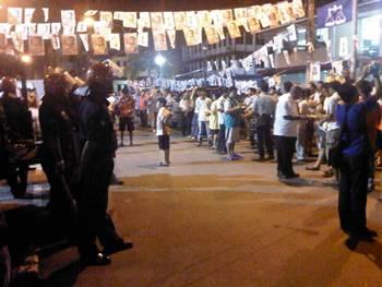 Sri aman dap rally disrupt by police