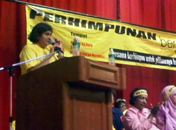 ambiga at bersih launch