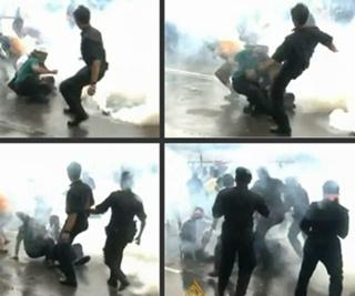 bersih rally 090711 police kick protestor story image