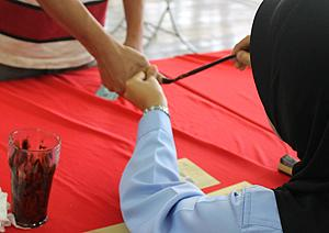 pulau ketam village head election 310711 indelible ink
