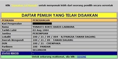 Yunasti Haris Lakmana permanent resident pr applicant electoral roll record