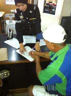 disabled victim Frusis Lebi makes police report against mong dagang letter