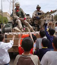 us global diplomacy 070706 iraq war tank children