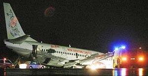 air asia airplane skidded of runway 081104