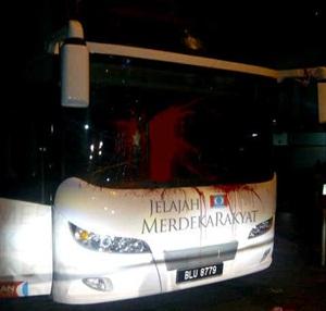 pkr election poll bus attacked in kelantan 2