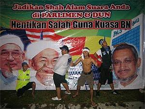 shah alam nik aziz hadi awang 060912 urinating peeing
