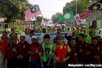 pengerang himpunan hijau 300912 start marching 07