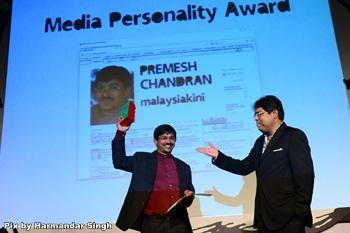 media personality of the year 2012 premesh chandran