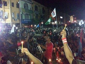 black 505 rally seremban crowd