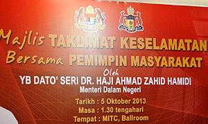 zahid hamidi malacca melaka 061011
