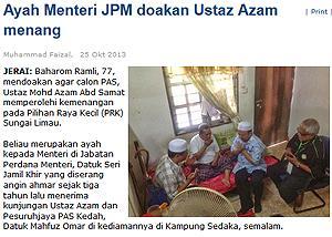 harakah azam visit jamil khir father 251013