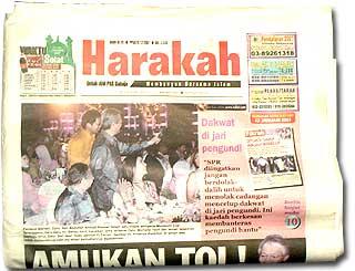 harakah newspaper pak lah abdullah with michelle yeoh photo cover