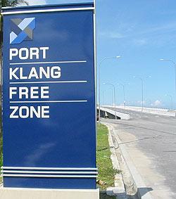 port klang free zone 070607 signboard