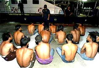 captured detained illegal immigrants 030707