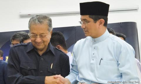 Image result for images of mahathir and azmin